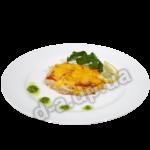 Пангасиус запеченный с овощами под сыром