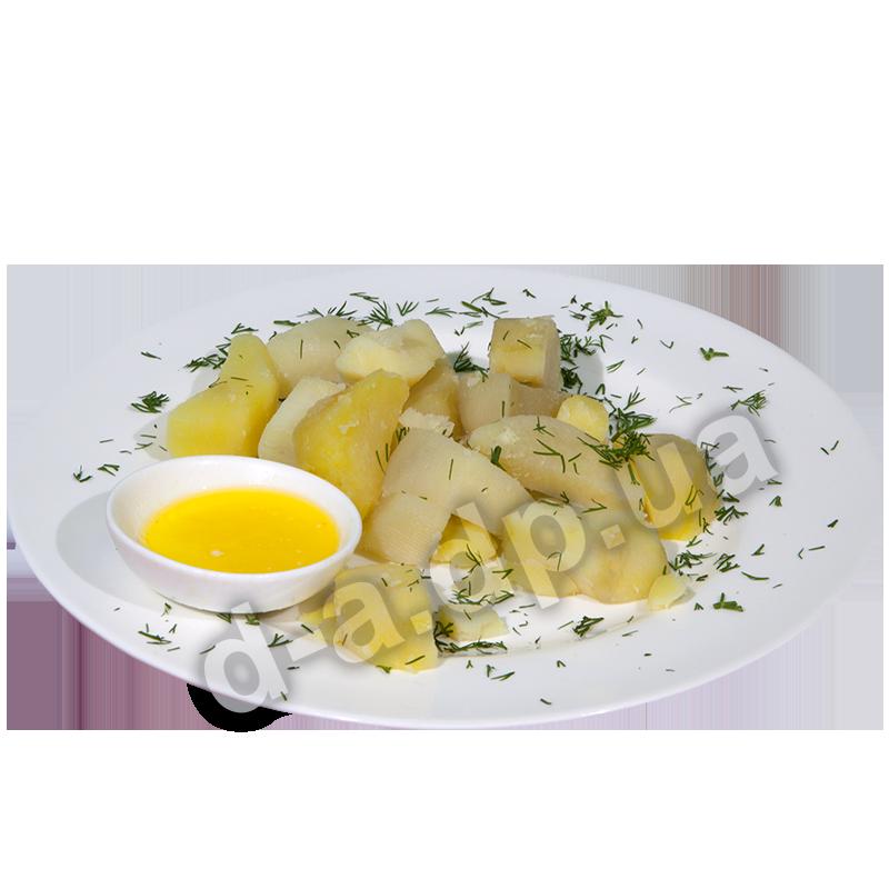 Картофель отварной с маслом сливочным и зеленью